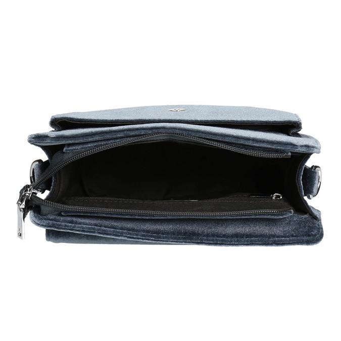 Dámska zamatová kabelka bata, šedá, 969-2662 - 15