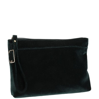 Zelená zamatová listová kabelka bata, zelená, 969-7663 - 13