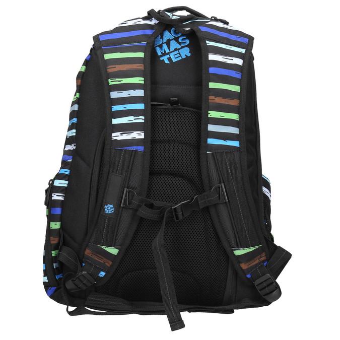 Školský batoh s pruhmi bagmaster, modrá, 969-9651 - 19