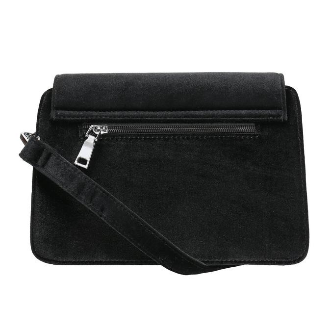 Zamatová dámska Crossbody kabelka bata, čierna, 969-6662 - 26