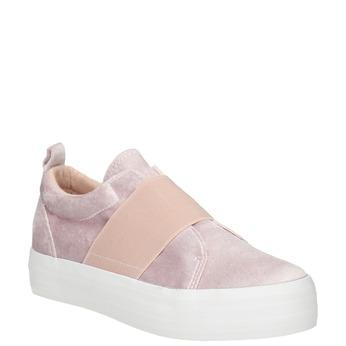 Ružové zamatové Slip-on north-star, ružová, 519-5604 - 13
