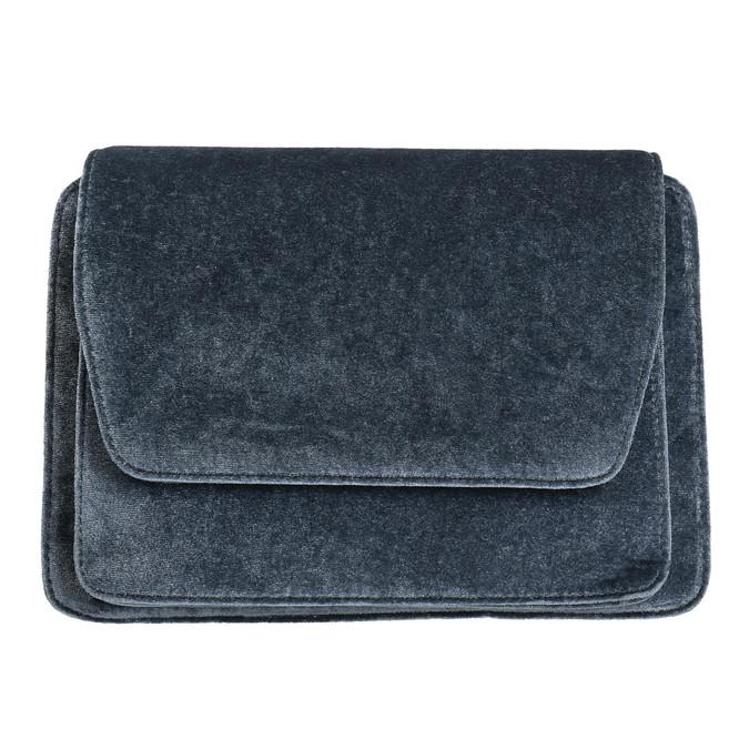 Dámska zamatová kabelka bata, šedá, 969-2662 - 19