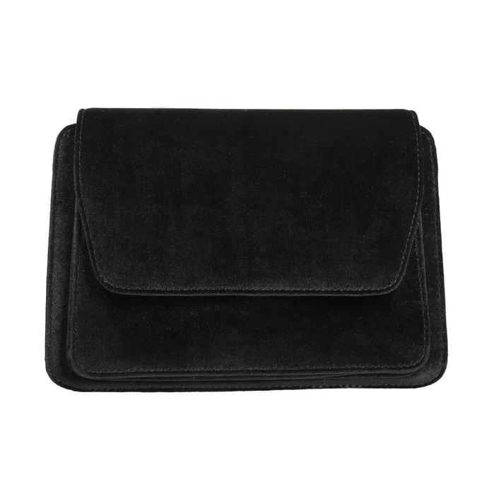 Zamatová dámska Crossbody kabelka bata, čierna, 969-6662 - 17