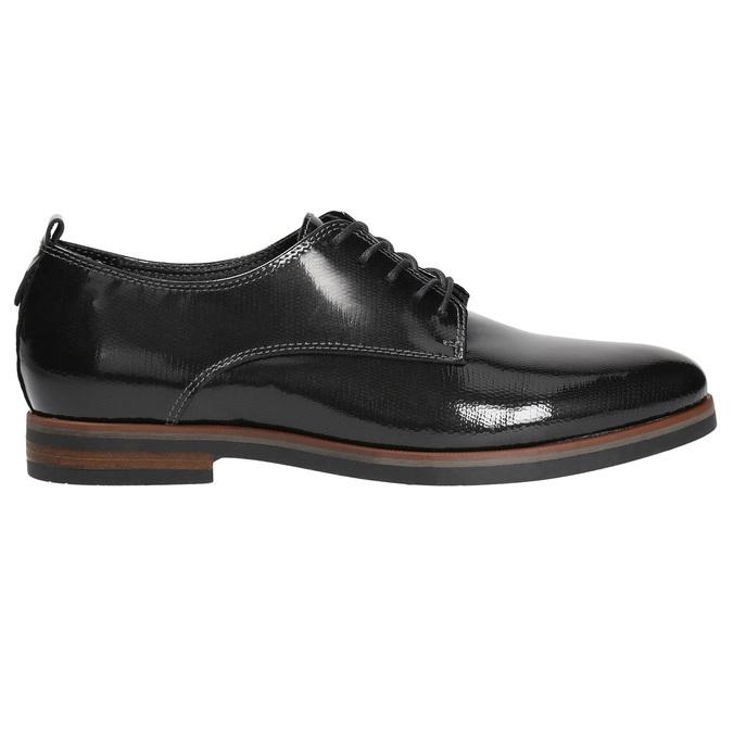 Dámske lakované poltopánky bata, čierna, 528-4600 - 15