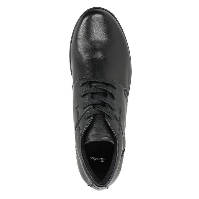 Kožená členková obuv bata, čierna, 524-6605 - 26