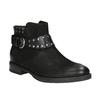 Členkové dámske čižmy s cvokmi bata, čierna, 596-6658 - 13