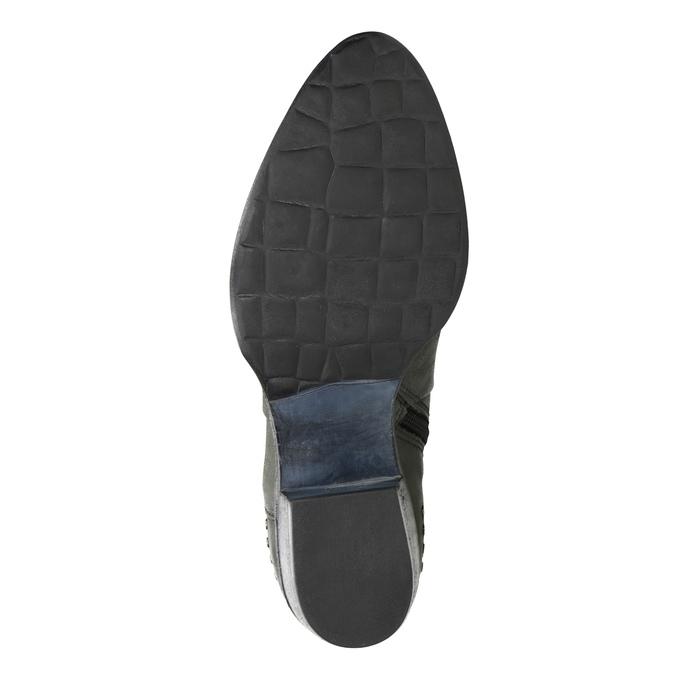 Kožené členkové čižmy bata, šedá, 596-9659 - 17