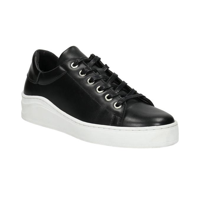 Kožené tenisky s výraznou podrážkou bata, čierna, 526-6641 - 13