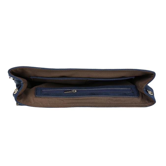 Modrá dámska listová kabelka s pútkom bata, modrá, 969-9664 - 15