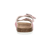 Kožená dámska domáca obuv de-fonseca, ružová, 573-5621 - 15
