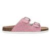 Kožená dámska domáca obuv de-fonseca, ružová, 573-5621 - 19