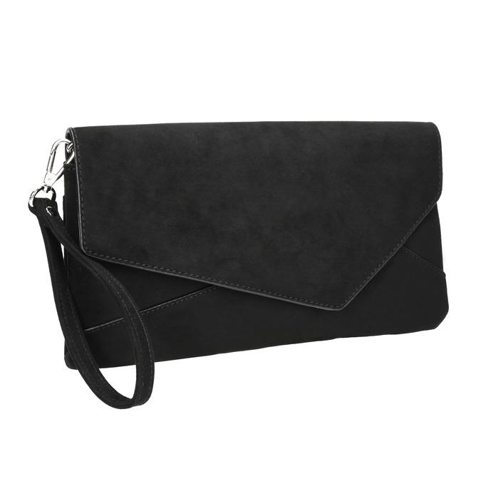Čierna asymetrická listová kabelka bata, čierna, 969-6665 - 13