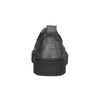 Dámske Slip-on na čiernej flatforme bata, šedá, 516-1613 - 17