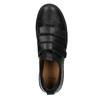Čierne kožené tenisky na suchý zips bata, čierna, 526-6646 - 15