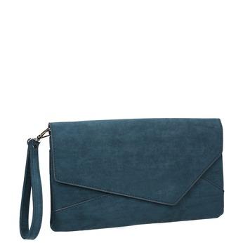 Dámska modrá listová kabelka s pútkom bata, modrá, 969-9665 - 13