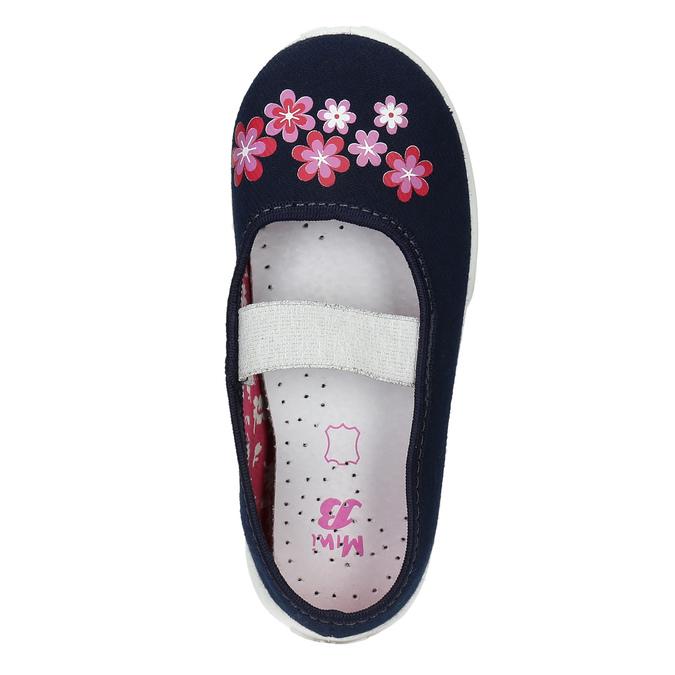 Domáca obuv s kvietkami mini-b, modrá, 379-9215 - 19