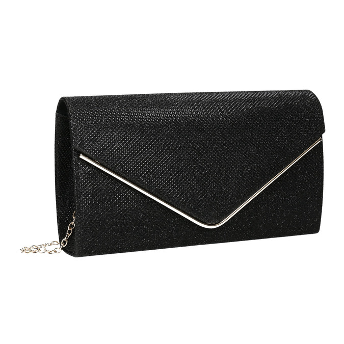 Čierna dámska listová kabelka bata, čierna, 969-6661 - 13
