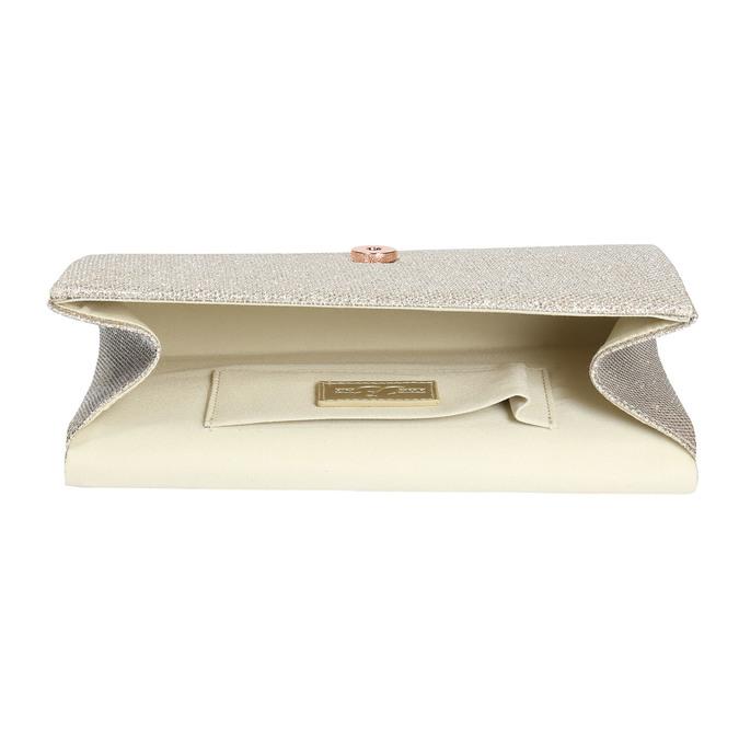 Zlatá dámska listová kabelka bata, zlatá, 969-1661 - 15