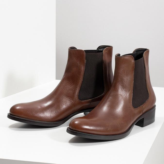 Kožená Chelsea obuv bata, hnedá, 594-4448 - 16