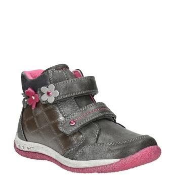 Členková dievčenská obuv bubblegummers, šedá, 221-2607 - 13