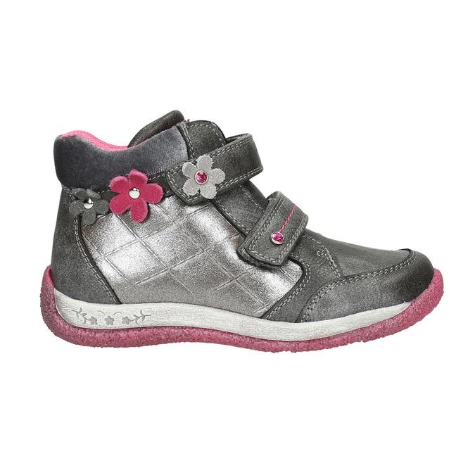 Členková dievčenská obuv bubblegummers, šedá, 221-2607 - 15