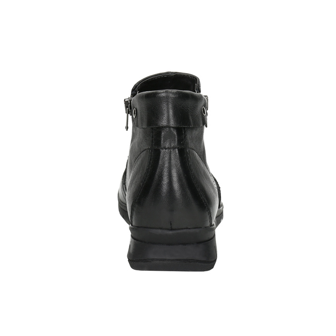 Kožená členková obuv so zipsami bata, čierna, 594-6642 - 17