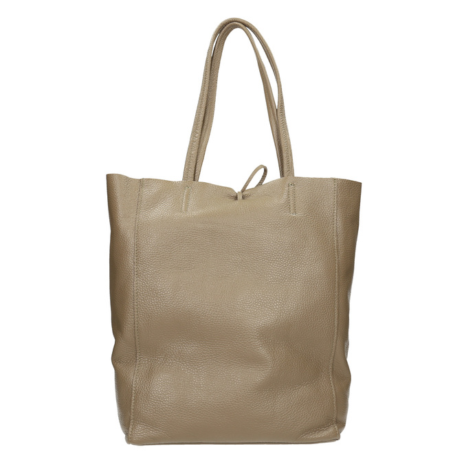Dámska kožená kabelka s mašľou bata, béžová, 964-2122 - 16