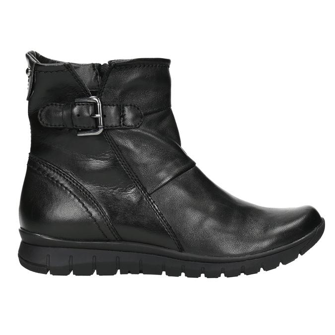 Kožená členková obuv bata, čierna, 594-6641 - 15
