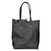 Kožená kabelka v Shopper štýle bata, čierna, 964-6122 - 16