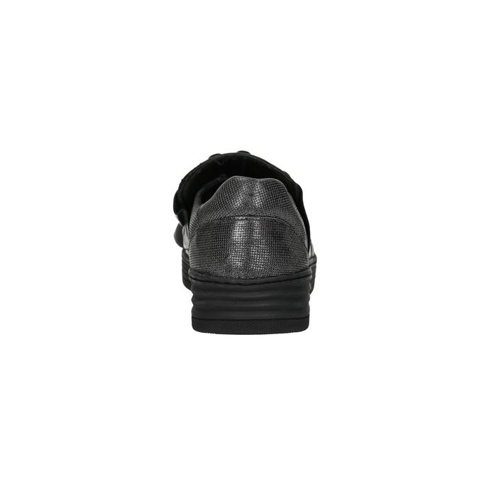 Dámske kožené Slip-on bata, čierna, 516-6614 - 17