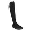 Dámske čierne čižmy nad kolená bata, čierna, 699-6634 - 13