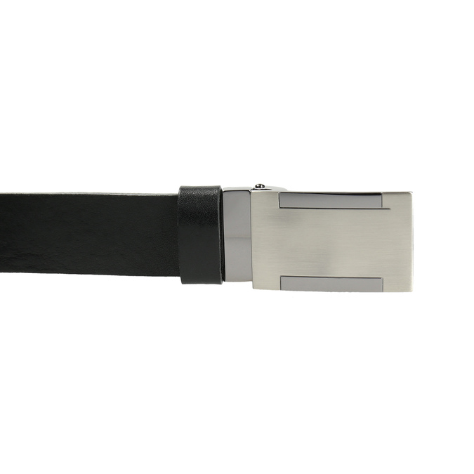 Pánsky kožený opasok s kovovou sponou bata, čierna, 954-6194 - 26