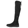 Dámske čierne čižmy nad kolená bata, čierna, 699-6634 - 26