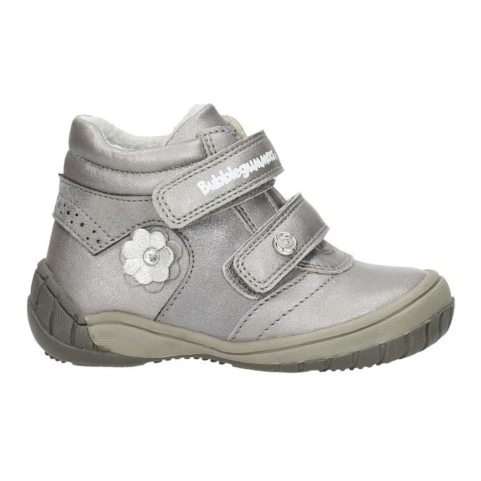 Dievčenská členková obuv s ozdobnou aplikáciou bubblegummers, strieborná, 121-1622 - 15