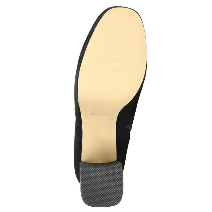 Čierne dámske čižmy nad kolená bata, čierna, 799-6663 - 19