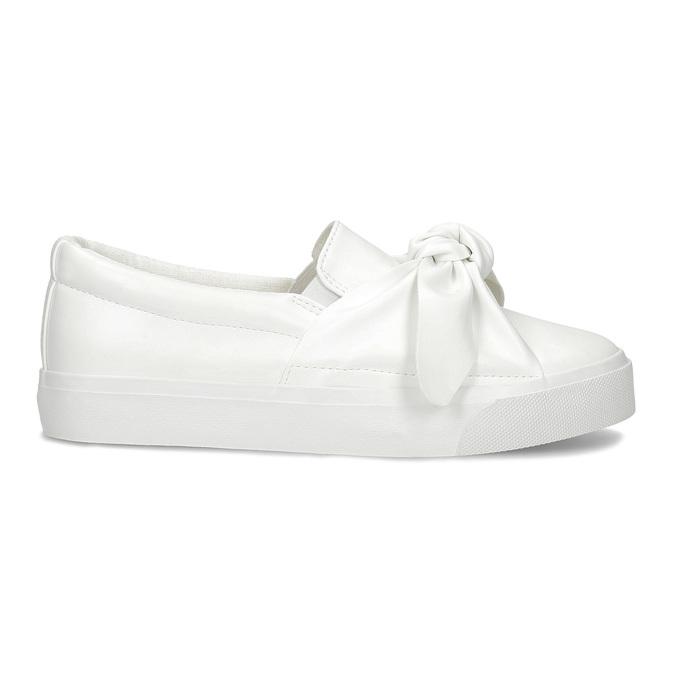 Biela dámska Slip-on obuv s mašľou north-star, biela, 511-1606 - 19