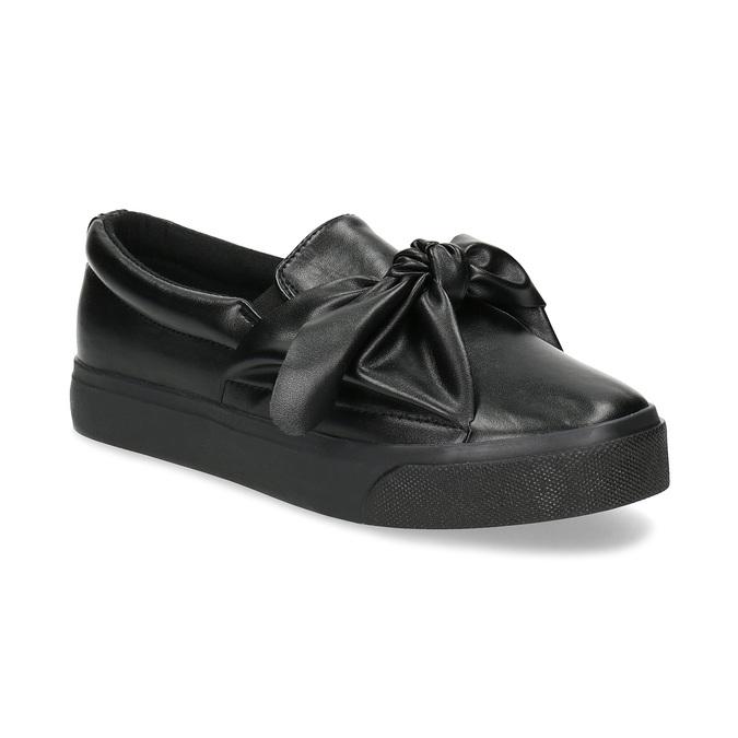 e0d18c0b41 North Star Čierna dámska Slip-on obuv s mašľou - Slip-on