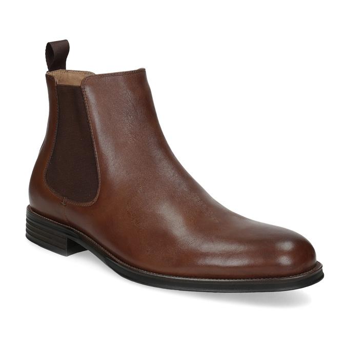 Hnedé kožené Chelsea Boots bata, hnedá, 896-3400 - 13