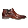 Kožená členková obuv s prackou bugatti, hnedá, 816-3043 - 26