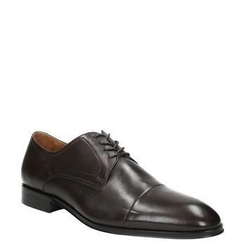 Hnedé kožené Derby poltopánky bata, hnedá, 824-4406 - 13