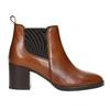 Členková kožená obuv na podpätku bata, hnedá, 694-4641 - 15