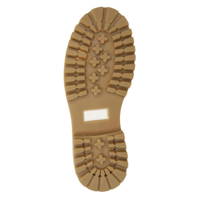 Kožená dámska členková obuv weinbrenner, béžová, 596-1667 - 17