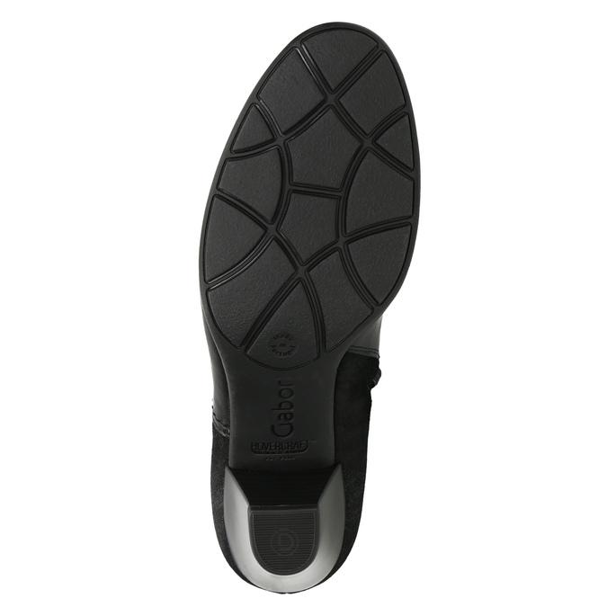 Kožené členkové čižmy gabor, čierna, 716-6028 - 19