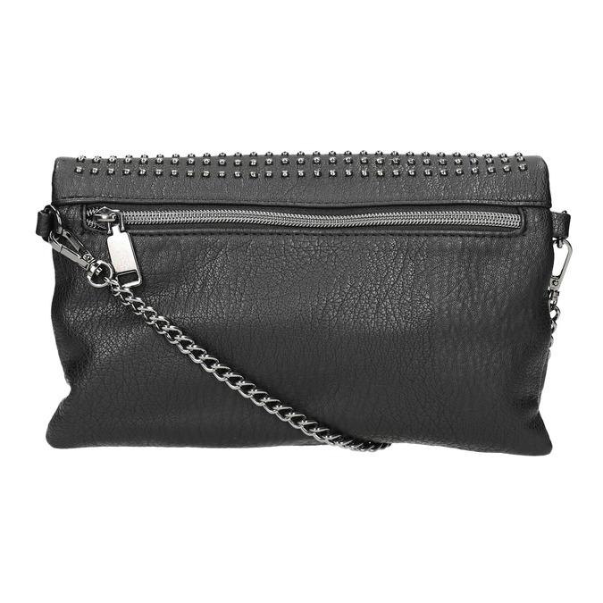 Dámska listová kabelka s cvočkami bata, čierna, 961-6791 - 26