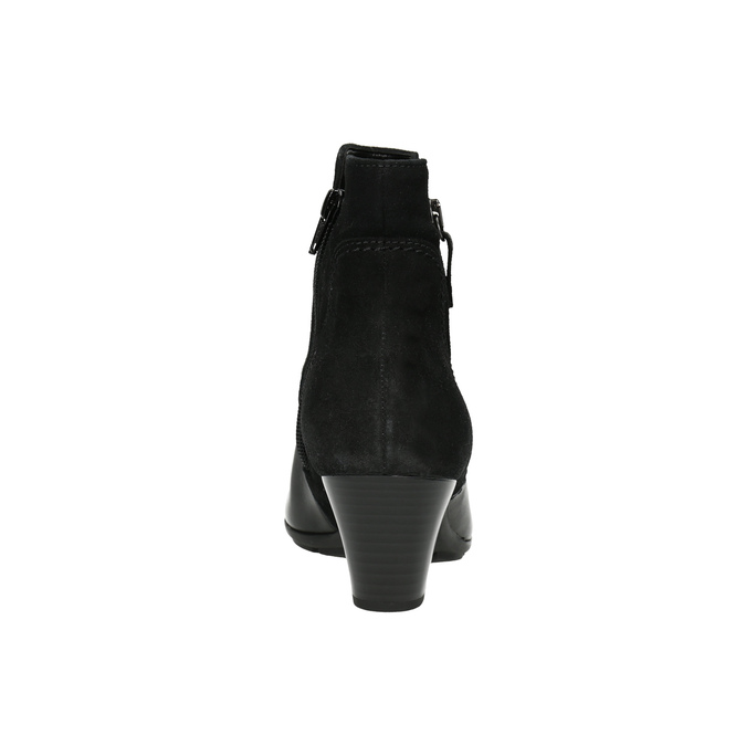 Kožené členkové čižmy gabor, čierna, 716-6028 - 17