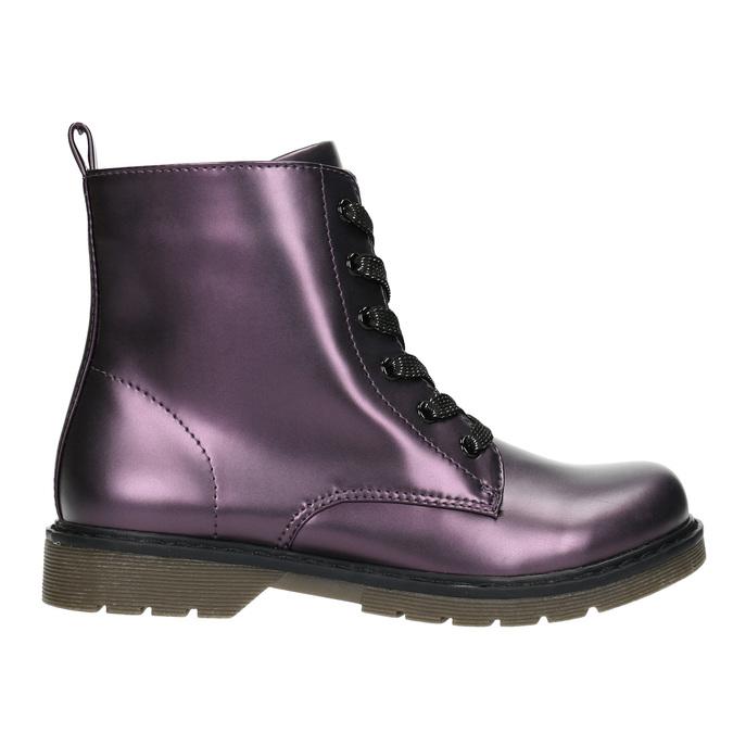 Metalická detská obuv mini-b, fialová, 321-9612 - 15