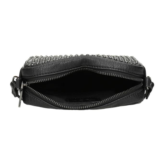 Dámska Crossbody kabelka s cvočkami bata, čierna, 961-6790 - 15