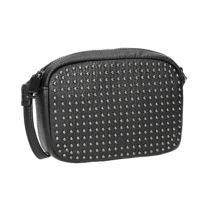 Dámska Crossbody kabelka s cvočkami bata, čierna, 961-6790 - 13