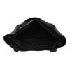 Čierna dámska kabelka s prešitím bata, čierna, 961-6787 - 15