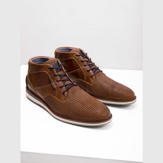 Ležérna členková obuv z kože bata, hnedá, 826-3912 - 14